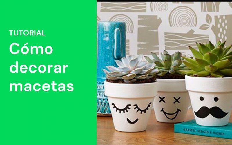 Ideas e inspiración para aprender a decorar las macetas