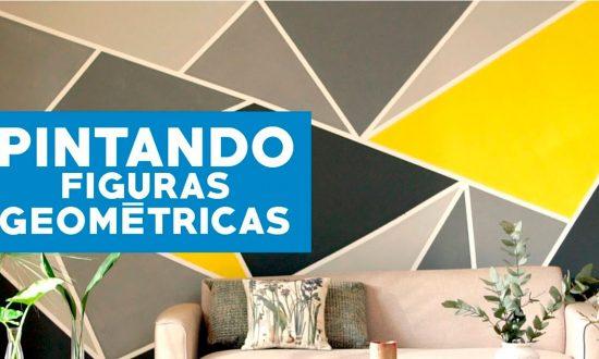 Cómo pintar paredes con figuras geométricas